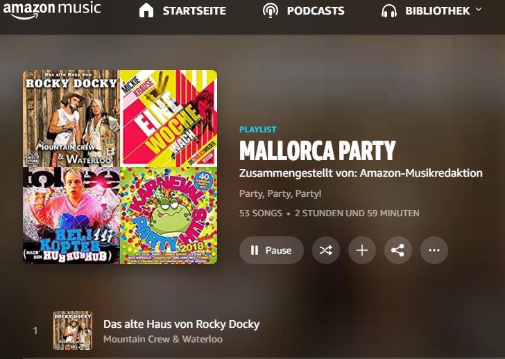 Das alte Haus von Rocky Docky auf Platz 1 der Amazon Mallorca-Playlist